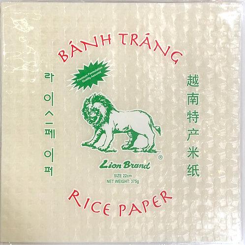 Lion Vietnamese Rice Paper Square 22cm 375g