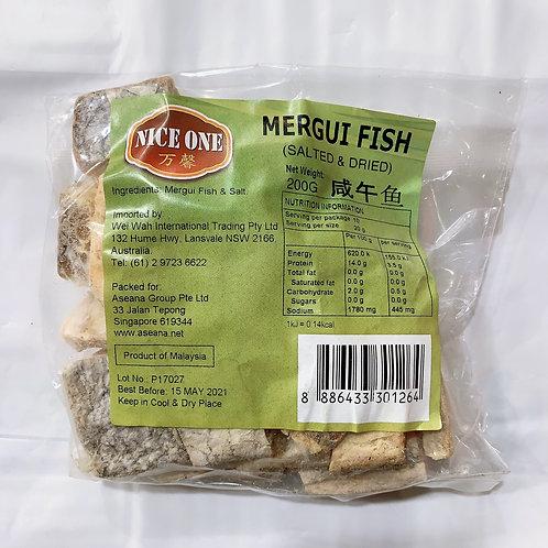 NiceOne Dried Mergui Fish 200G 萬馨丹栳鹹魚粒