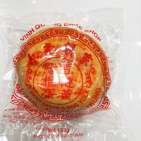 VINH QUANG Mooncake with bean paste, durian and egg yolk 150g