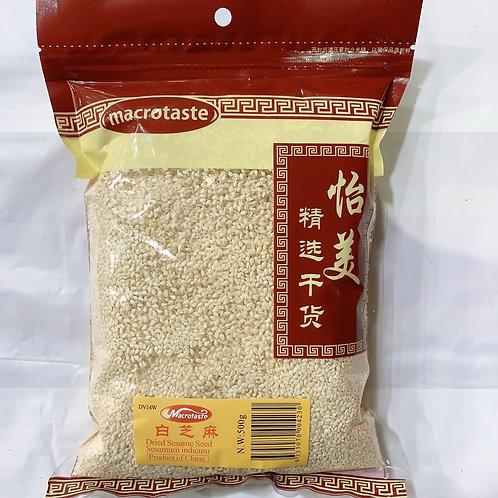 Macrotaste White Sesame Seeds 500g 白芝麻