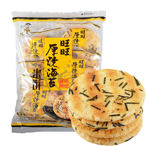 Want Want Seaweed Rice Crackers 160g 旺旺厚燒海苔