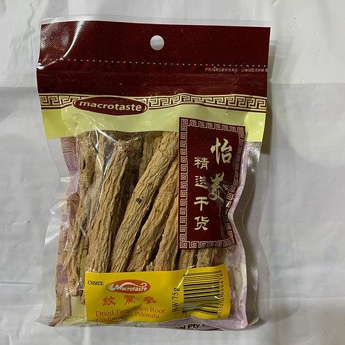 Macrotaste Tang Shen Root 75G 紋黨蔘