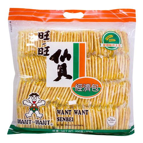 Want Want Senbei Rice Crackers 520g 旺旺仙貝