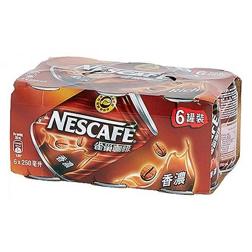 Nescafe Rich 250mL x 6 cans 雀巢香濃咖啡