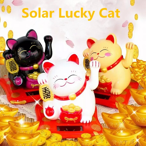 Solar Power Lucky Cat