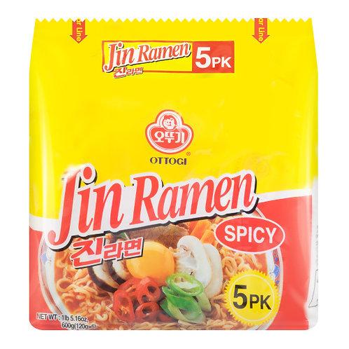 Ottogi Jin Ramen Spicy 5 Pack