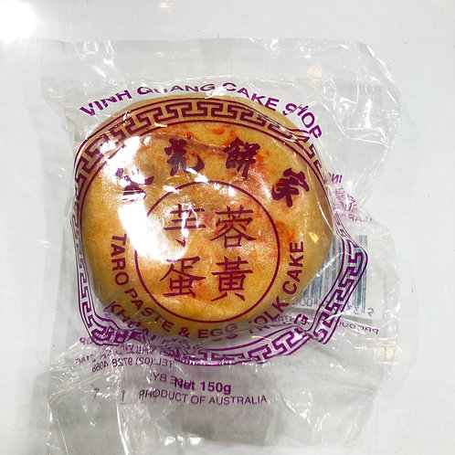 VINH QUANG Mooncake with bean paste, taro and egg yolk 150g