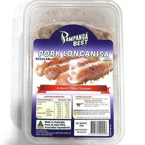 Pampanga Best Pork Longanisa Regular 450g