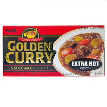 S&B Golden Curry Extra Hot 220G