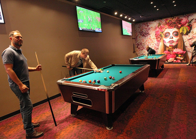 Playing Pool - Dante's