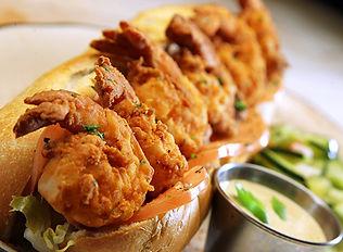Firefly's BBQ Cajun Fried Shrimp Po' Boy
