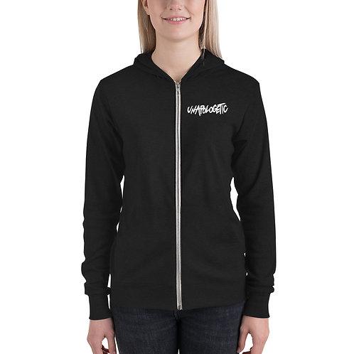 Unapologetic Unisex zip hoodie