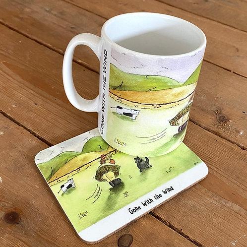 HollyRude Mug and Coaster Set