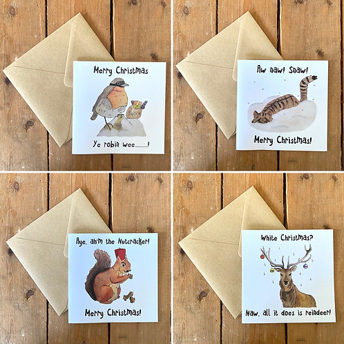 Blethering Beasties Christmas Cards