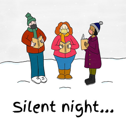 Silent Night Covid Christmas Card