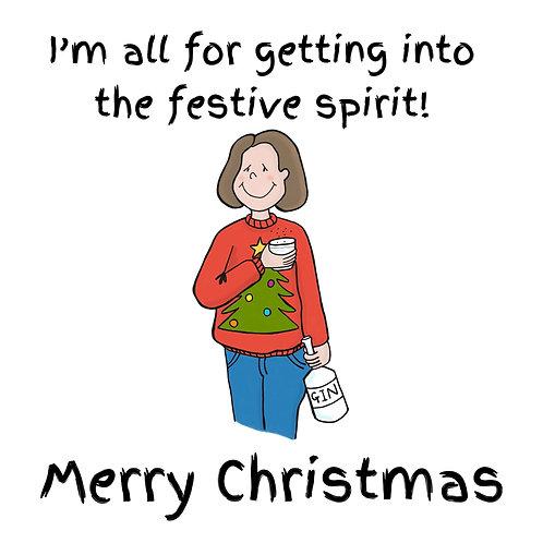 Lady Luck Christmas Card