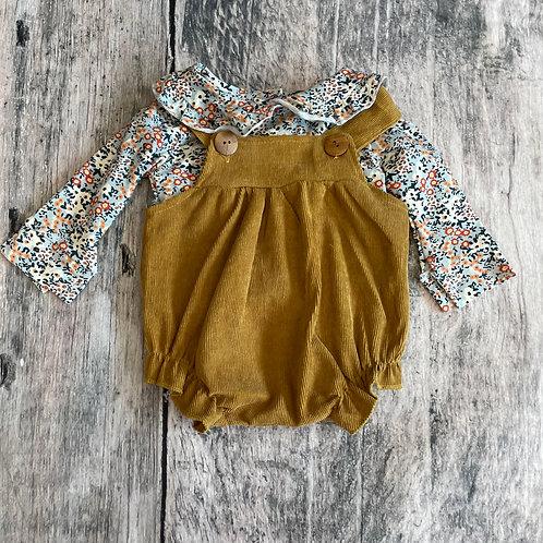 Mia Mustard Bubble w/floral shirt