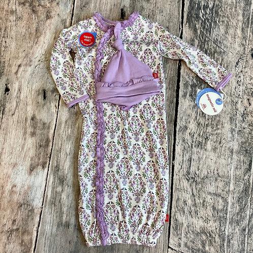 Unicorn Dreams Organic Cotton Magnetic Gown & Hat set