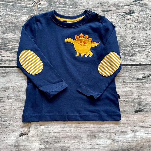 Dino Appliqué Pocket Top Navy