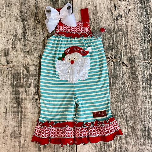 Ho Ho Ho Girls Applique Romper