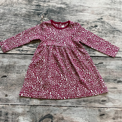 Winter Berry Classic Dress Berry