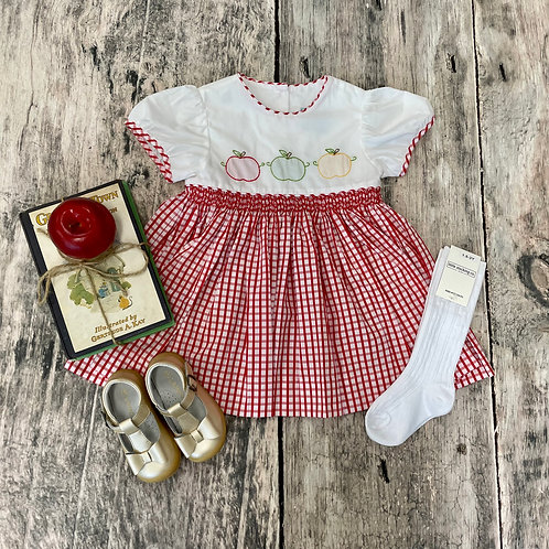 Apple Embroidery Dress