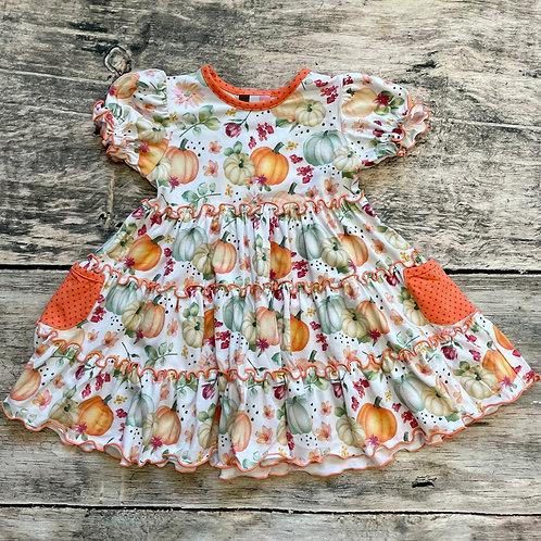 Fall Harvest Short Sleeve Knit Dress