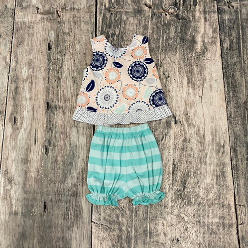 Mint to Be Tie Bloomer Set