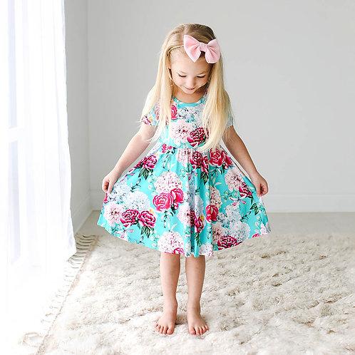 Eloise Short Sleeve Basic Twirl Dress