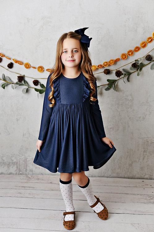 Bella Essentials Denim Pocket Dress