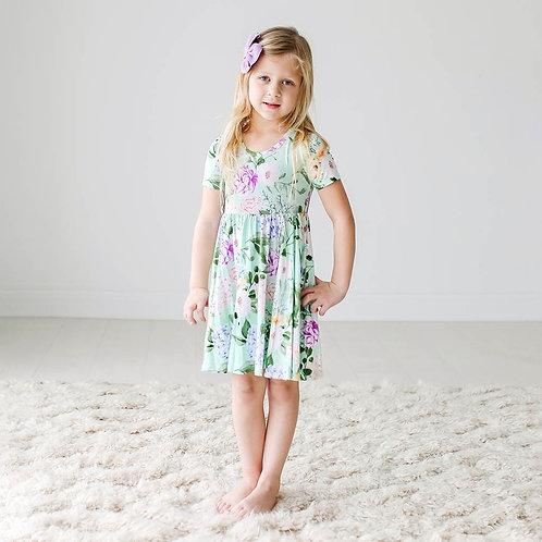 Erin Short Sleeve Basic Twirl Dress