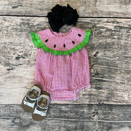 Watermelon Seersucker Bubble