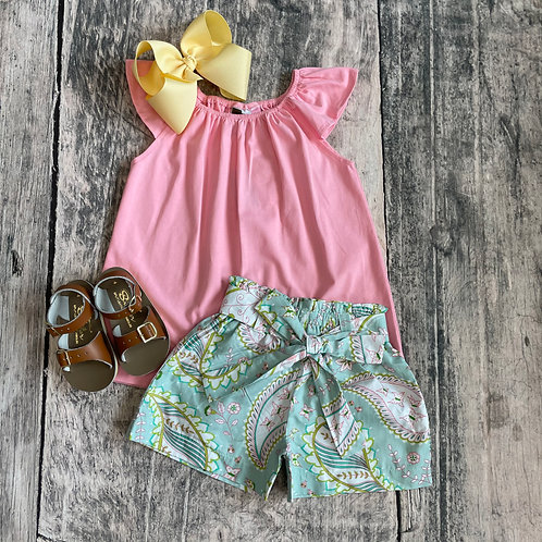Spring Paisley Short Set