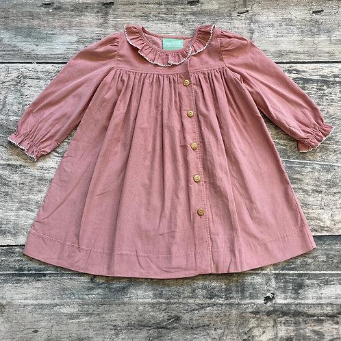 Lt Pink Cord Dress
