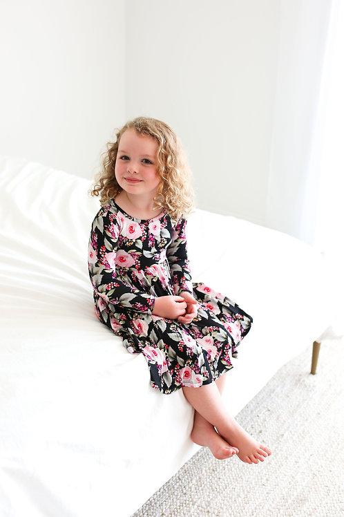 Milana Long Sleeve Twirl Dress