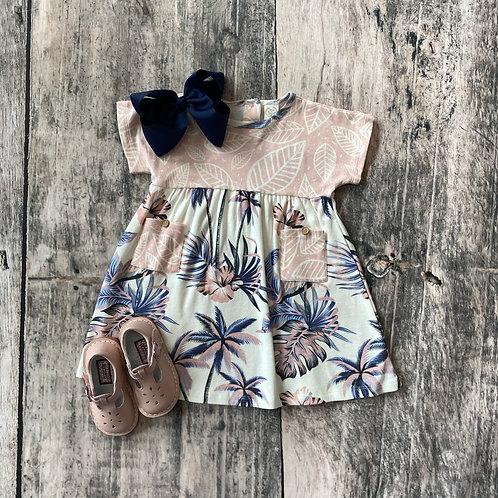 Hawaiiana Short Sleeve Pocket Dress