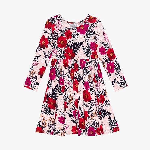 Chloe Long Sleeve Twirl Dress