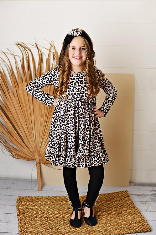 Butterknit Leopard Dress w/leggings