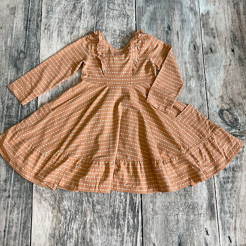 Peach Twirl Dress