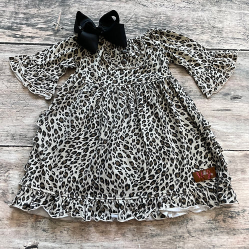 Leopard Bell Sleeve Dress