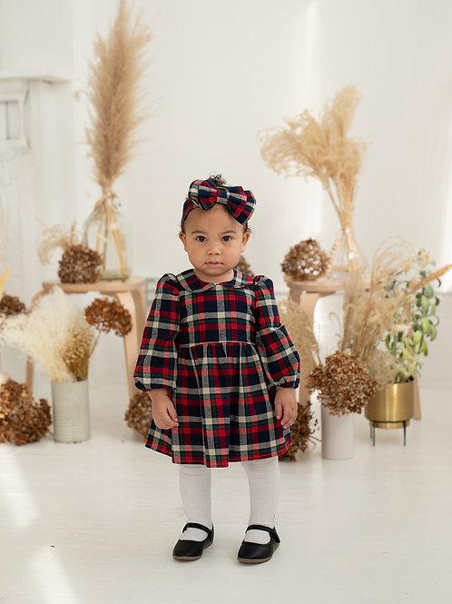 Kind Heart Woven Plaid Dress