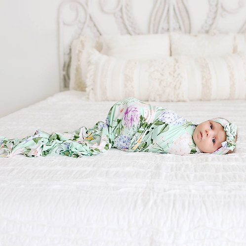 Erin Swaddle and Headwrap Set