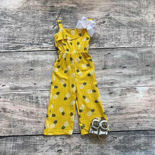 Bella Romper Mustard Pineapple