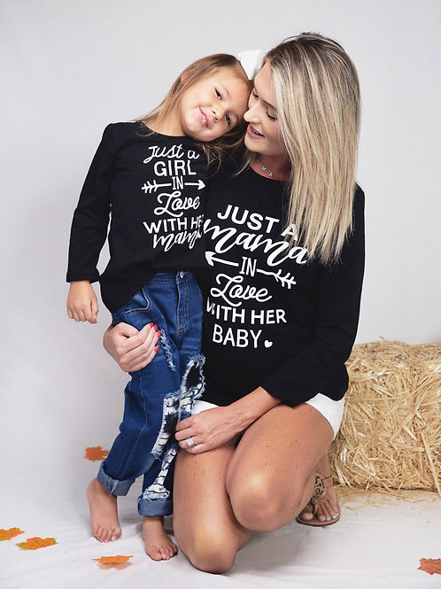 Mom & Me Just In Love Tee-Mom