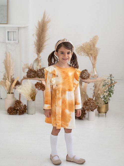 Warm Sunshine Knit Tie Dye Dress