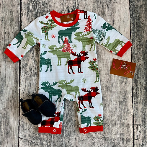 Christmas Forest Boy Romper
