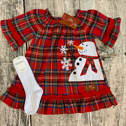Snowman applique Dress