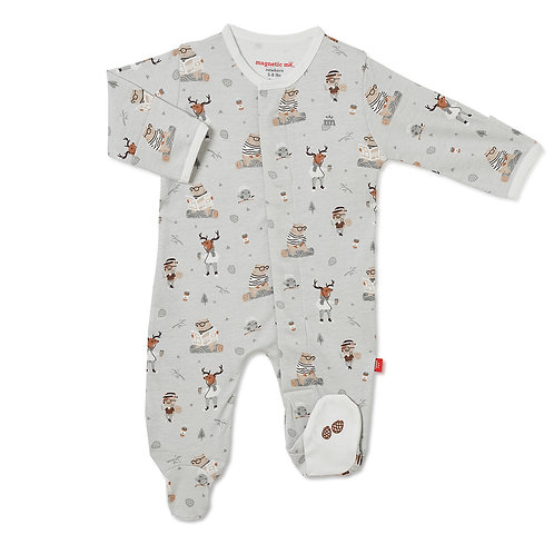 Perfect Sunday Organic Cotton Magnetic Footie
