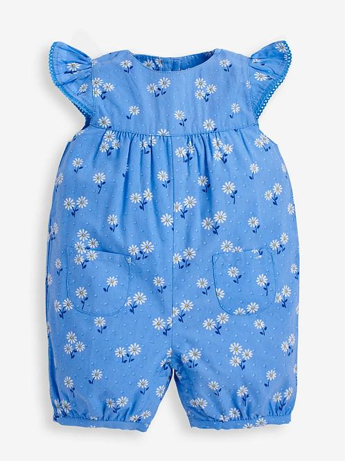 Pretty Daisy Sunsuit Blue