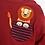 Thumbnail: Lion Appliqué Pocket Top Burgundy